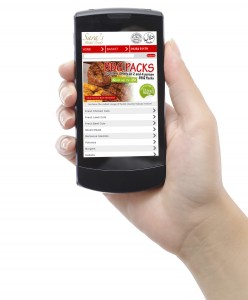 Sara's Halal Foods Mobile Website