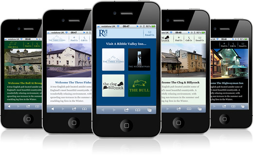 Ribble Valley Inns Mobile Websites