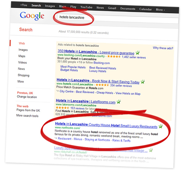 1st Page Rankings On google
