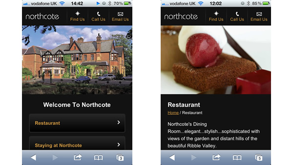 Northcote Mobile Website
